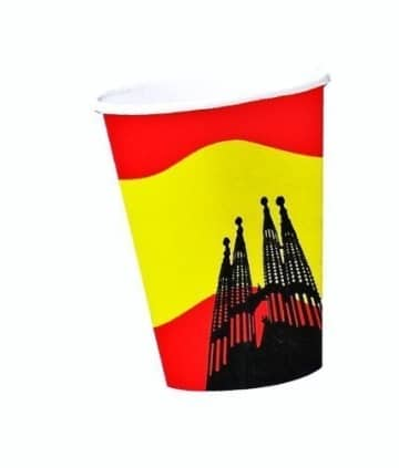 10 Pappbecher mit der Spanien-Flagge - 1