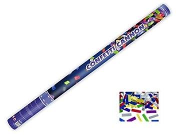 12 Konfetti Shooter 80 cm 8m Confettishooter metallic bunt Konfettikanone - 1
