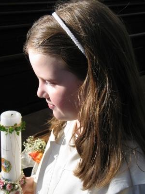 Kommunionsfeiern finden traditionell in der Osterzeit, d.h. zwischen Ostern und Pfingsten, statt