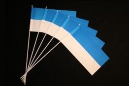 50 Papierfähnchen, blau-weiß - 1