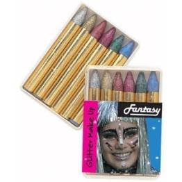 6 Glitter-Schminkstifte, Gesichter anmalen schminken - 1