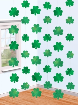 6 Stück STRINGS - KLEEBLATT - St. Patrick Day - 1
