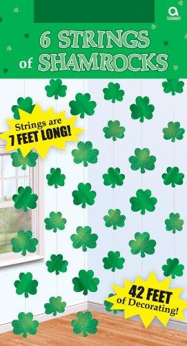 6 Stück STRINGS - KLEEBLATT - St. Patrick Day - 2