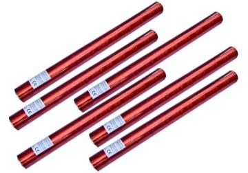 6er Set deelite Herz Confettishooter / Konfettikanonen 60cm mit roten Herzen - 1