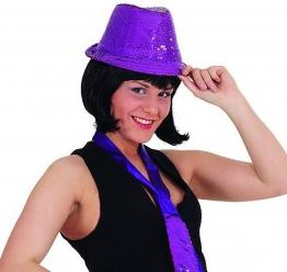 Hut Disco-Hut Pailletten Farbe lila