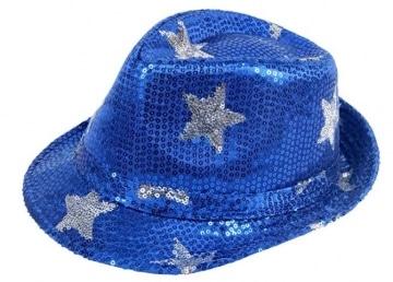 Hut Disco-Hut mit Sternen, blau verschiedene andere Farben