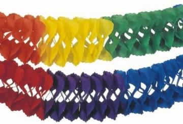 Saaldeko Regenbogen-Girlande, 25 cm Durchmesser, 10 m Länge