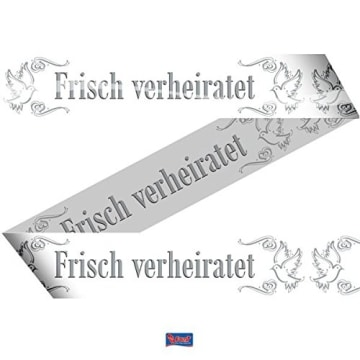 "Absperrband, Schriftzug ""Frisch verheiratet"", 15 m - 1"