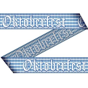 """Absperrband, weiß-blaue Rauten, """"Oktoberfest"""" 7,5 cm Höhe, 15 m Länge - 1"""