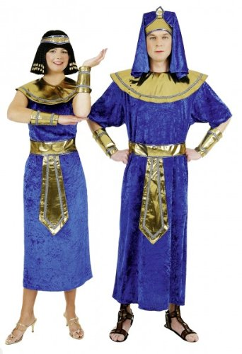 Ägypterin-Kostüm: Gewand mit Kleid, Gürtel, Kopfband und Armstulpen - 2