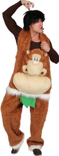 Affen-Kostüm: Hose mit Affenpuppe, braun, Einheitsgröße - 1