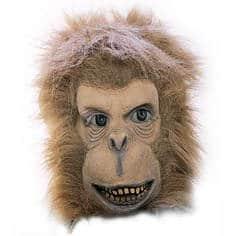 Affenmaske mit Fellbesatz - 1