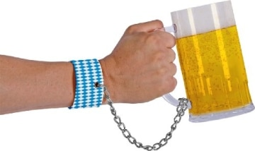 Armband mit Bierglas, 13,5 cm Höhe, 7,5 cm Durchmesser - 1