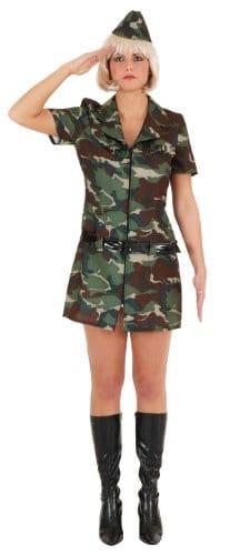 Army Girl : Kleid, Gürtel und Haube - 1