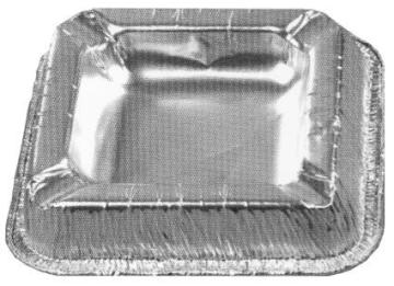 Aschenbecher: Alu-Aschenbecher, 10 x 10 cm, 10er-Pack - 1