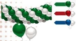 Ballon-Deko-Set: 60 Ballons, grün-weiß, mit Deko-Zubehör - 1