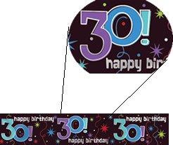 """Banner-Bordüre: Schriftzug """"Happy Birthday"""" und """"30"""", 360 cm x 13 cm - 1"""