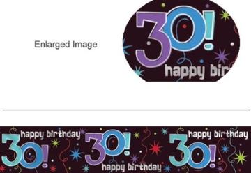 """Banner-Bordüre: Schriftzug """"Happy Birthday"""" und """"30"""", 360 cm x 13 cm - 2"""