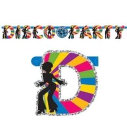 """Banner: Buchstaben-Banner, Glitzer, """"Disco-Party"""", 230 x 17 cm - 1"""