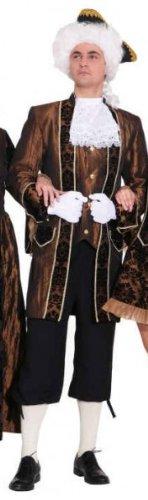 Barock Herr braun : Jacke, Hose und Jabot - 1