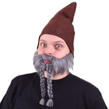 Bart, grau mit Zöpfen - 1