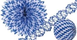 Bavaria: blau-weißes Deko-Set für eine bayerische Dekoration - 1