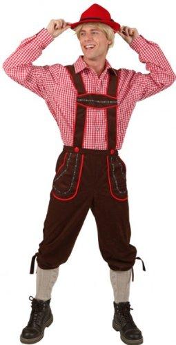 Bayern-Hose: Latzhose, wadenlang, braun - 1