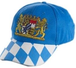 Bayern-Kappe mit Wappen, Basecap - 1