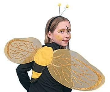 Bienen-Kostüm: Set mit Flügeln und Haarreif - 1