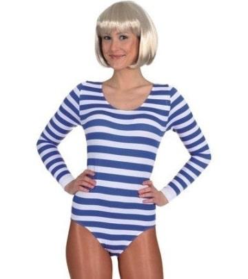 Body blau-weiß gestreift - 1