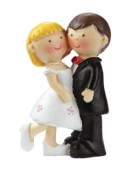 Brautpaar: hübsches Hochzeitspaar, 5 cm, Polyresin - 1