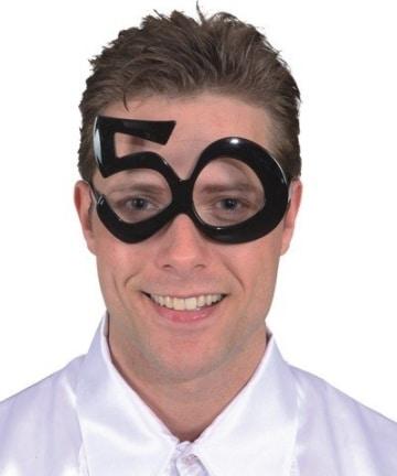 Brille: Brille mit Jahreszahl 50 - 1