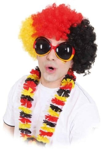 Brille: Deutschland-Brille, schwarz-rot-gold, groß - 1