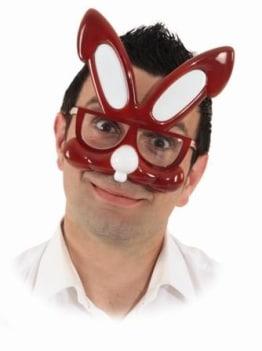 Brille: Hasen-Brille, mit Ohren als Deko - 1