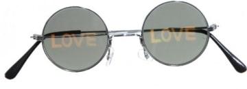 """Brille: Hippie-Brille mit Aufdruck """"Love"""" - 1"""