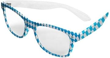 Brille: Oktoberfest-Brille, blau-weiße Rauten - 1