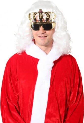Brille: Party-Brille, Krone, gold - 1