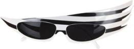 Brille: Showbrille, schwarz-weiß - 1