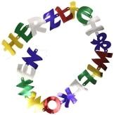 """Buchstabenkette: Schriftzug ,,Herzlich Willkommen"""", 250 cm - 1"""