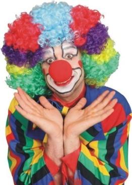 bunte Lockenperücke für den Clown - 1