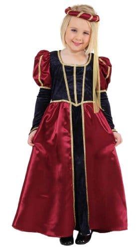 Burgfräulein weinrot-blau : Kleid und Kopfbedeckung - 1