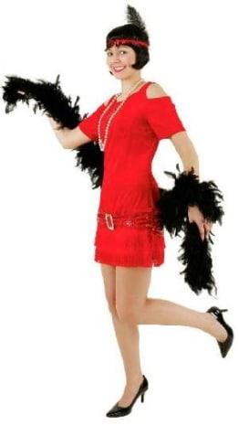 Charlestonkleid rot mit Schnalle - 1
