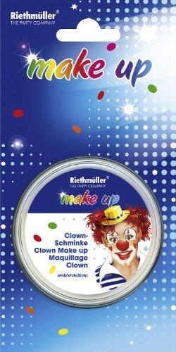 Clown: Theater-Schminke, weiß, 30 g - 1
