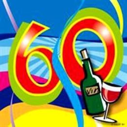 """Cocktail-Servietten, """"Birthday Swirl"""", Zahl 60, 25 x 25 cm, 20er-Pack - 1"""