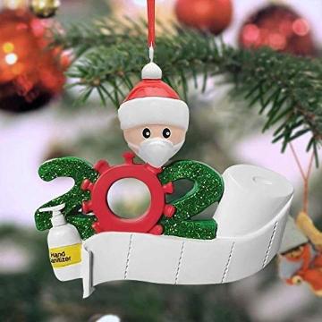Corona Weihnachtsbaumschmuck Maske, Klopapier, Desinfektion 3