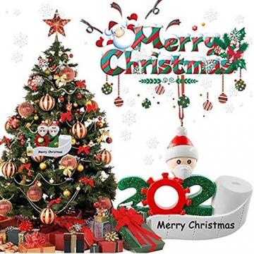 Corona Weihnachtsbaumschmuck Maske, Klopapier, Desinfektion 4