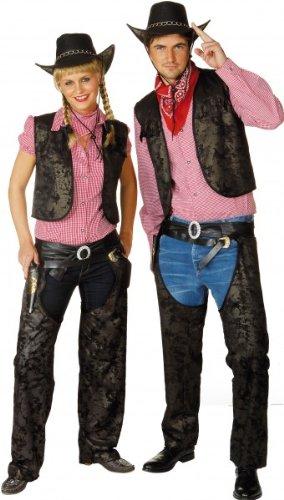 Cowboy-Kostüm: Herren-Weste, Lederoptik - 2