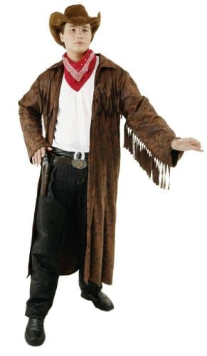 Cowboy: Westernmantel, Fransen, braun - 1