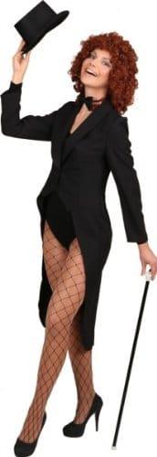Damenfrack schwarz ohne Futterstoff - 1