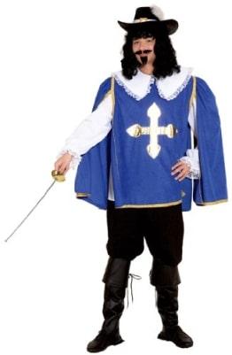 D'Artagnon blau : Hemd, Überwurf und Hose - 1